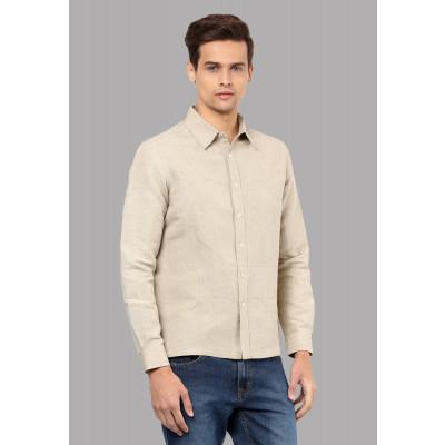 Sandeep Mahajan Highway Khaki Linen Shirt
