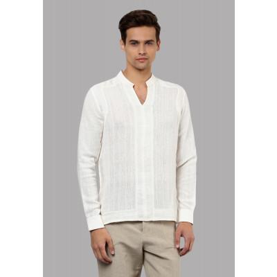 Sandeep Mahajan Ivory Cotton Kurta Shirt