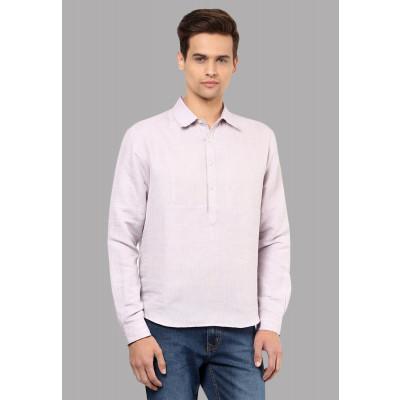 Sandeep Mahajan Lilac Linen Chambray Shirt