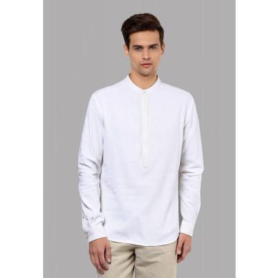 Sandeep Mahajan White Linen Kurta Shirt