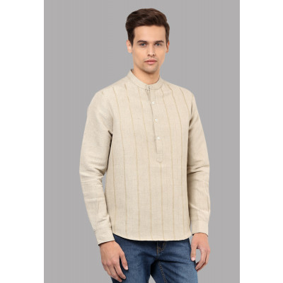 Sandeep Mahajan Highway Khaki Kurta Shirt
