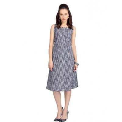 VODKA printed A-line dress