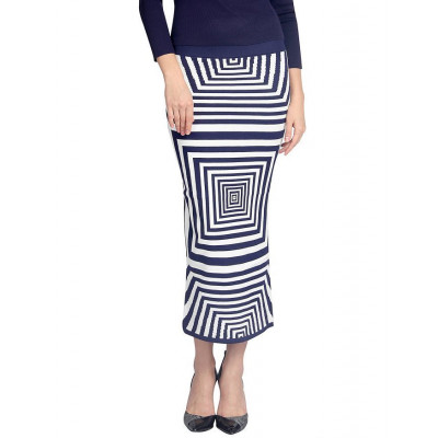 Vodka Fashion India Blue Long Skirt