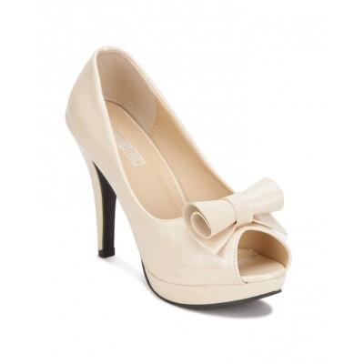Yepme Women's Beige Synthetic Heels