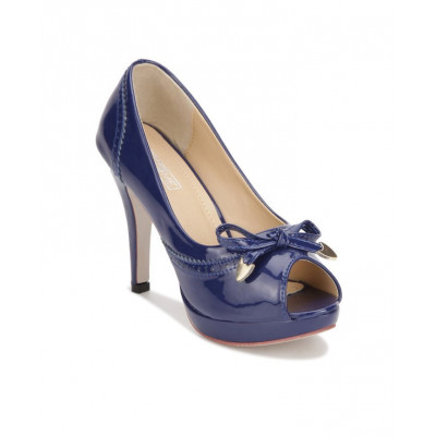 Yepme Navy Blue Peep Toes