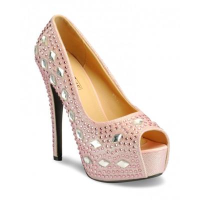 Yepme Women's Pink Synthetic Heels