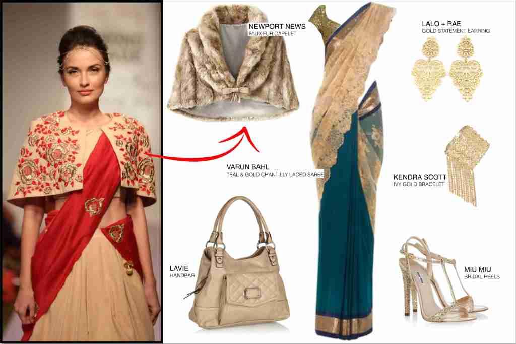 saree_fur_cape_fashion_style