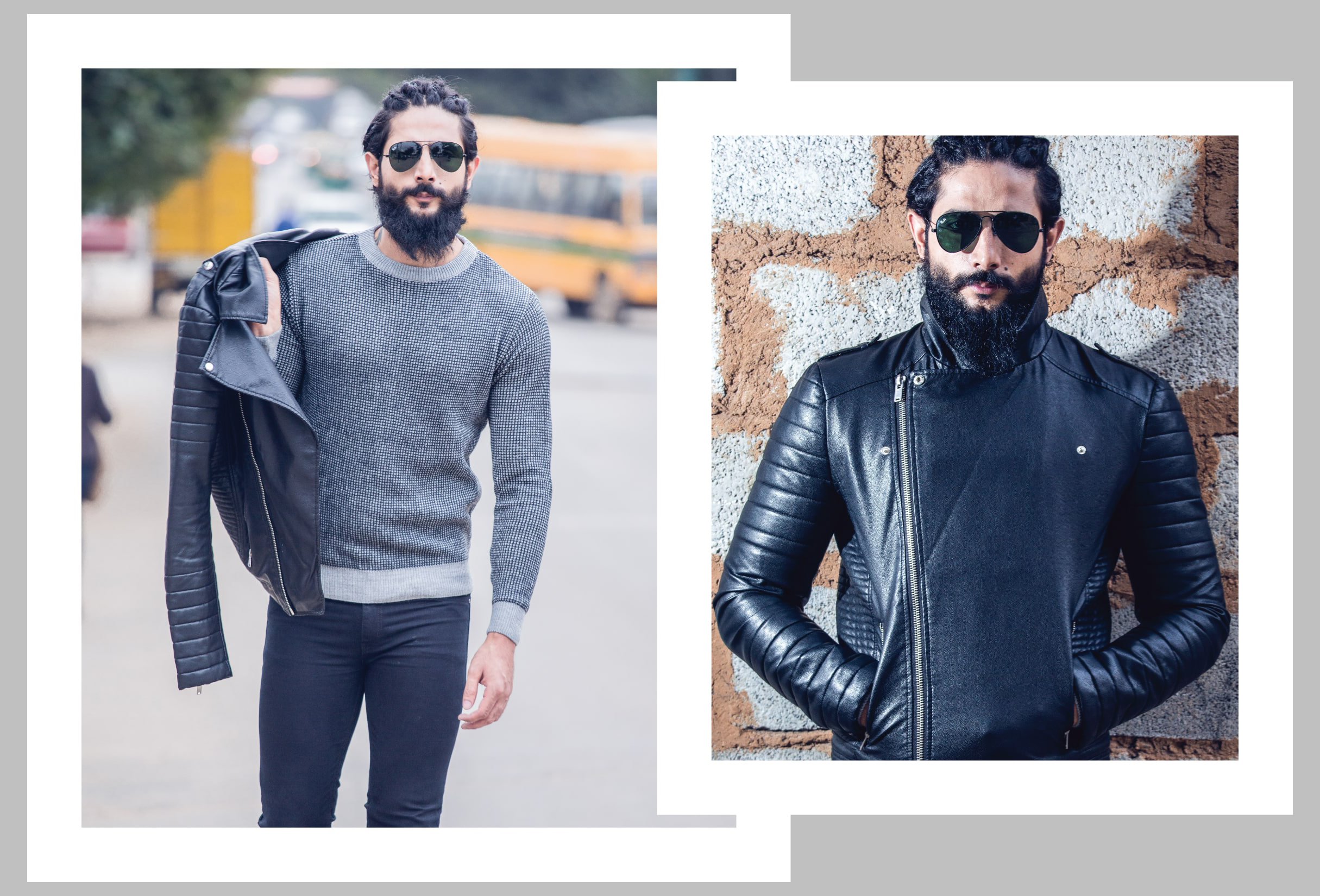Kamaljeet_Rana_Lealther_Jacket_Grey_Fashion_Style