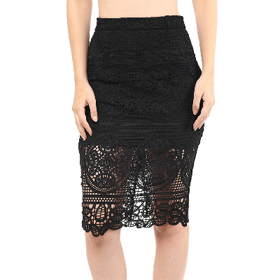 Remanika Laced Knitted Pencil Skirt